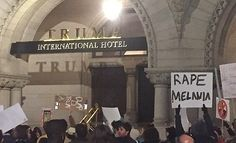 Anti-Trump protester shows up with 'Rape Melania' sign – nobody was offended by it?