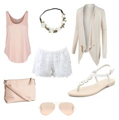"""""""Summer love"""" by vandriakova-z on Polyvore featuring Alexis, LE3NO, H&M, Ray-Ban and Rip Curl"""