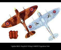 Yugoslavian Partisan Spitfire (352 Sqn RAF) 1945