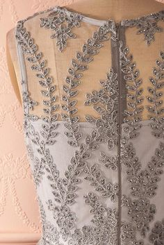 Holliday Silver - Silver lace party dress