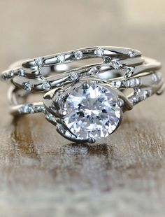 Ooh, maybe for a 10-year anniversary ring? - Unique Engagement Rings by Ken & Dana Design - Daya Selene pairing