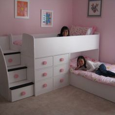 bedroom design ideas for twin girls - Google Search