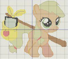 Buzy Bobbins: Filly Applejack Cross stitch design