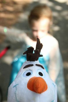 Disney Princess photo shoot, 5 years old. Elsa (and Olaf!)