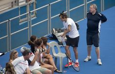 1D UPDATES SLOVAKIA @1DSlovakia  #NEW #HQ | Harry playing tennis at Pat Rafter Arena in Brisbane - 20.10.2013