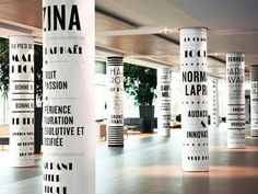 paper signs...cost effective but would need a lot of maintenance.  {environmental graphics}