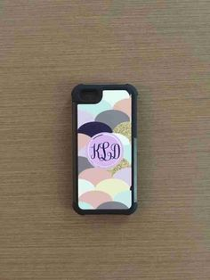 custom monogrammed phone cover made by: CBreezeDesign