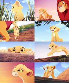 """Who does she remind you of?"" ""Hmm? Who?"" ""She's just like you were when we were young."" ""Exactly! Do you realise the danger we put ourselves in?"" ""You mean the danger you put us in? She'll be fine."" -Nala and Simba"