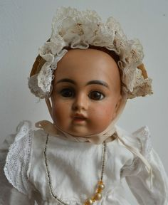 "Unbelievable Rare Mulatto Bru Face Belton 121 13"" Antique Bisque Head Doll in Dolls & Bears, Dolls, Antique (Pre-1920) 