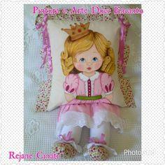 Almofada Menina Princesa | Doce Encanto By Rejane Cinati | Elo7