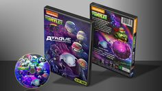 Teenage Mutant Ninja Turtles - Ataque Intergaláctico - Capa   VITRINE - Galeria De Capas - Designer Covers Custom   Capas & Labels Customizados