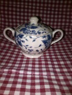 Royal Tudor Grindley Bouquet Blue suikerpotje