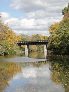 Old railroad bridge. Railroad Bridge, West Bend, Washington County, Beautiful Park, Gods Creation, Green Bay, Homeland, Marina Bay Sands, Milwaukee
