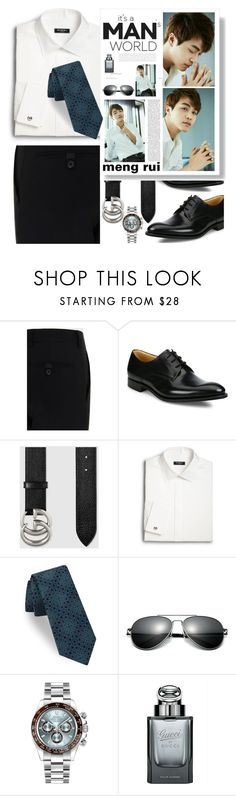 """""""【Men's fashion】"""" by horus-kn ❤ liked on Polyvore featuring Prada, Church's, Gucci, Saks Fifth Avenue, Ted Baker, Rolex, men's fashion and menswear"""