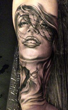 Tattoo Artist - Eze Nunez - woman tattoo | www.worldtattoogallery.com