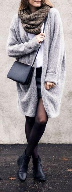 #winter #fashion / oversized knit coat
