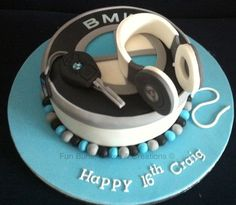 BMW / beats headphones cake