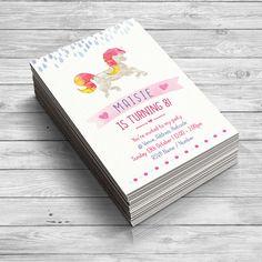 Unicorn Invitation, Unicorn Birthday Invitations, Unicorn Party Supplies, Magical Invitation, Princess Party Invitations