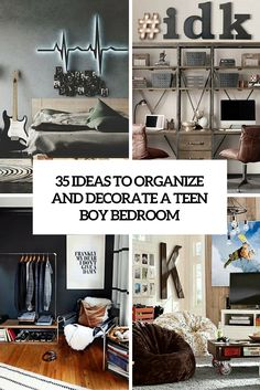 ideas to organize and decorate a teen boy bedroom cover
