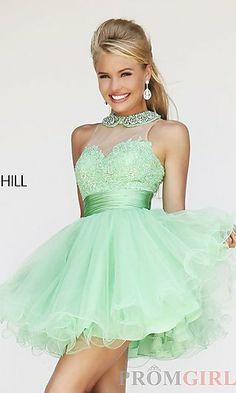 Short Babydoll Dress by Sherri Hill 21227 at PromGirl.com