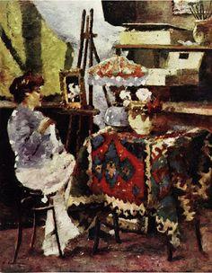 Poetul plastic al florilor, Ștefan Luchian Post Impressionism, Art Database, Artist At Work, Art World, Art Nouveau, Paintings, Bucharest Romania, Artists, Easel