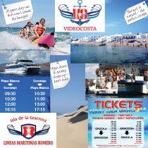 Videocosta & Líneas Marítimas Romero offer excursions and ferry services in Lanzarote