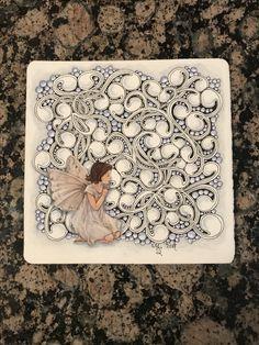 Zentangle, Tangled Moonshine Fairy, Created by Megan Schlobohm