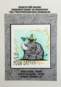 """Animal Outing: New stamp set from Stampin' Up! 2018-19 Annual Catalog. Set comes out in June 2018 for all customers! Shop 24/7 for all your papercrafting supplies. Click """"Visit"""" to go directly to my shop. Thank you!"""