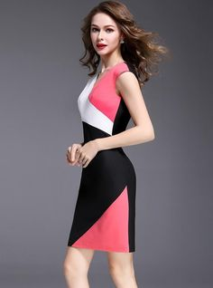 Prom Dress Shopping, Online Dress Shopping, Women's Fashion Dresses, Casual Dresses, Creation Couture, Colorblock Dress, Maxi Dress With Sleeves, Mode Outfits, Dress Patterns