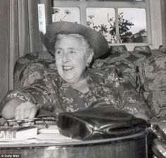 Agatha Christie, who also wrote under the name Mary Westmacott, died in 1976 having written more than 70 detective novels, most famously featuring her creations Hercule Poirot and Miss Jane Marple