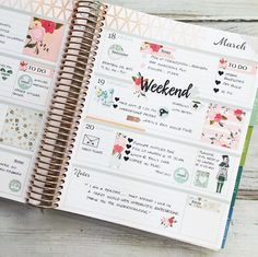 Planner page inspiration
