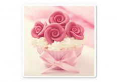 Tableau sur verre - Roses on Cupcake