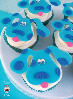Bird On A Cake: Blue's Clues Cupcake Toppers