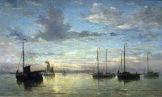Hendrik Willem Mesdag - Evening on the sea - 1870  Teylers Museum, Haarlem, Netherlands