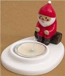 NEEEEED! cute Christmas candle holder with Santa Claus warming hands - from Japan - other cute things - Stationery