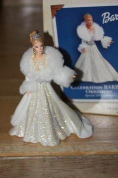 Celebration Barbie Hallmark Keepsake Christmas Ornament 2003 Special Edition | eBay Diy Christmas Balls, Hallmark Christmas Ornaments, Hallmark Holidays, Christmas Gift Decorations, Hallmark Keepsake Ornaments, Christmas Barbie, Star Wars, Fashion Addict, Fashion Dolls