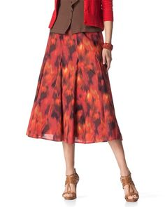 $21.50 Coldwater Creek Bold floral skirt
