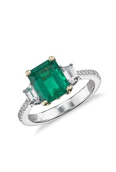 Brides.com: . 19. Colored stones are a way to be unique with your ring. Fifty-two percent of brides say they would wear a colored stone in their engagement ring. That could mean rubies, emeralds, or sapphires, which are usually less expensive than diamonds, so they're a great way to add to your ring.