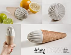 deliving blog: ¡¡NEW!! ★ Exprimidor handmade by Deliving #wood #ceramic #minimal #handmade #craft
