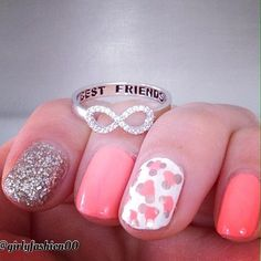 #nails #nailart--Here's a look to share with best friend Becky Jane