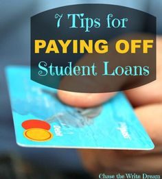 7 Tips for Paying Off Student Loans - Say goodbye to your debt sooner! Federal Student Loans, Paying Off Student Loans, Student Loan Debt, Dave Ramsey, School Loans, Loan Money, Student Loan Forgiveness, Loan Company, Budget Planer