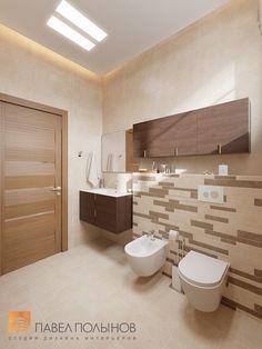 Фото: Интерьер ванной комнаты - Интерьер дома в современном стиле, коттеджный поселок «Небо», 272 кв.м.