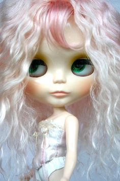 Reserved Pecurrie Light Pink Mohair Blythe Scalp by ronmac on Etsy