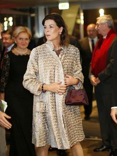 Royal Family Around the World: Prince Albert II of Monaco and Princess Caroline of Hanover at the Bolshoi Ballet for the 'launch of the year Russian', Monaco, on December 19, 2014