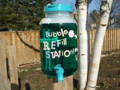 Bubble Refill Station My first Pinterest Inspired DIY!