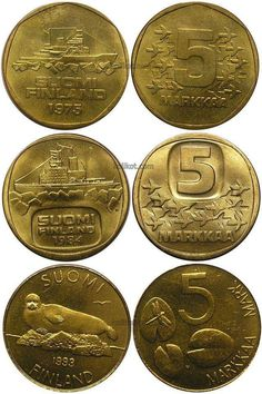 5 markan kolikot | Retroblogi.com Good Old Times, My Childhood Memories, Old Toys, Independence Day, Finland, Retro Vintage, Nostalgia, Coins, Old Things