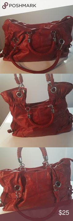 Beautiful Red Tote Purse Double carrying straps; all straps are detachable for comfortablity or preference  Deep pockets Double phone pockets 2 zipper pockets on the inside 1 zipper pocket on the outside Unbranded Bags Totes