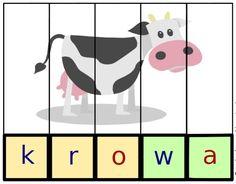Puzzle do nauki czytania - 16 wzorów do bezpłatnego pobrania - Pani Monia Kids Education, Speech Therapy, Kids Learning, Montessori, Back To School, Playing Cards, Puzzle, Kids Rugs, Games