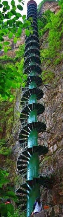 Stairway to heaven, Taihang Mountains, Linzhou, China.if that is the stairway to heaven, I may need to rethink my options. Stairway To Heaven, Places To Travel, Places To See, Places Around The World, Around The Worlds, Take The Stairs, Stairways, Wonders Of The World, The Good Place