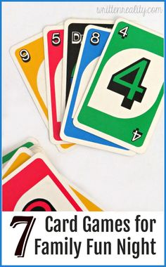 Try one of these Kid-Friendly Card Games for your next Family Fun Night!